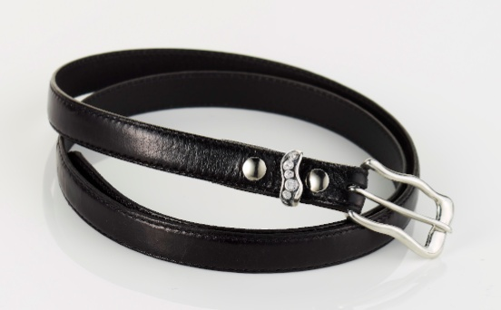 A chic black belt will add a masculine twist to your look.