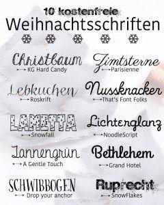 10 kostenfreie Weihnachtsschriften   schöne Weihnachtsschrift   waseigenes.com