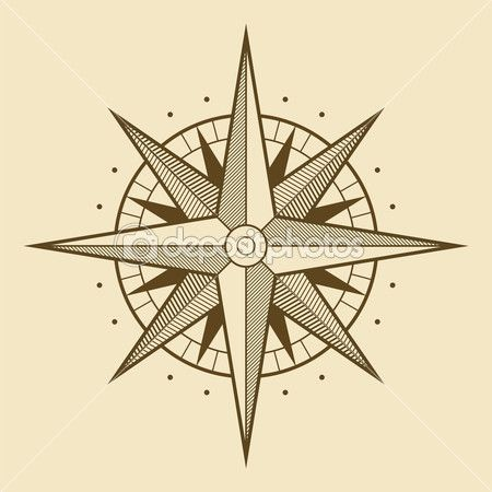 Rosa dos ventos — Ilustração de Stock #25675245