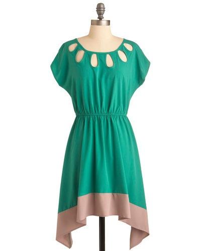 Urban Planting Dress: Cutout Dresses, Dreams Closet, Color Combos, Color Blocks, Retro Vintage Dresses, Urban Plants, Plants Dresses, Modcloth Com, Modcloth Dresses