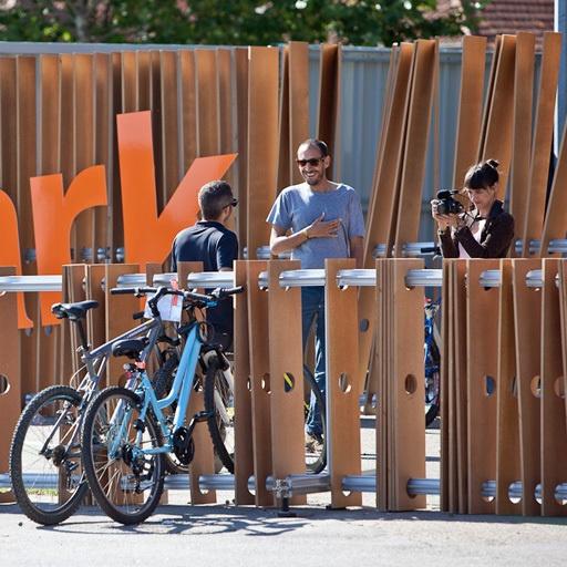 #atolyearch_urbanintervention Bike Park / Optimus Primavera Sound 2012 by MIGUEL PALMEIRO DESIGNER , via Behance