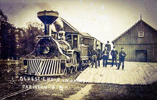 CARILLON, Québec - Carillon & Grenville Railway station - vintage pc_edited historique