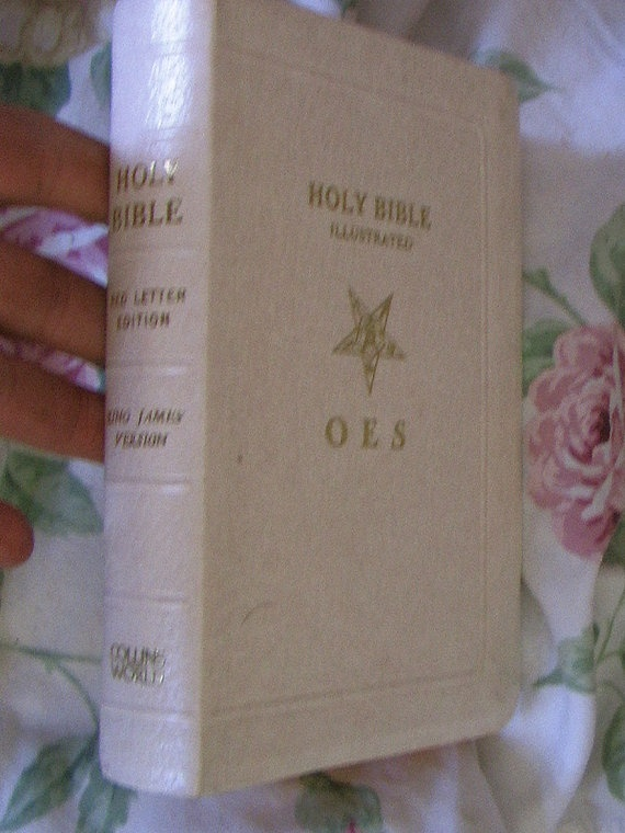Free Masons Bible Order Of The Eastern Star  very by anniejones4, $49.00