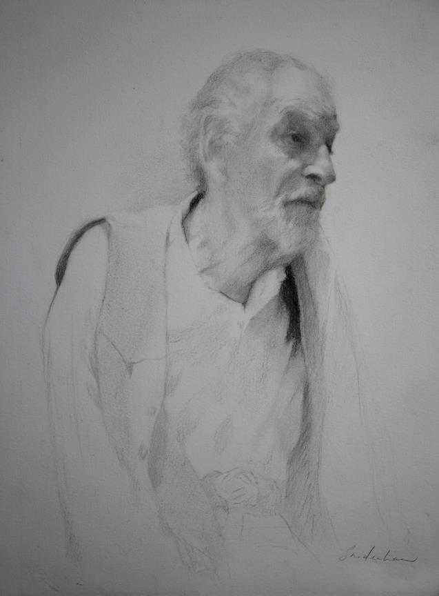 Sara Sniderhan - drawing of David Leffel - 2013