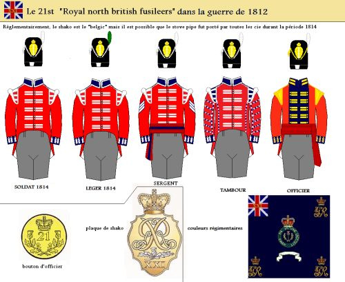 "Le 21st regiment of foot "" Royal North British Fuzileers ""dans la guerre de 1812"