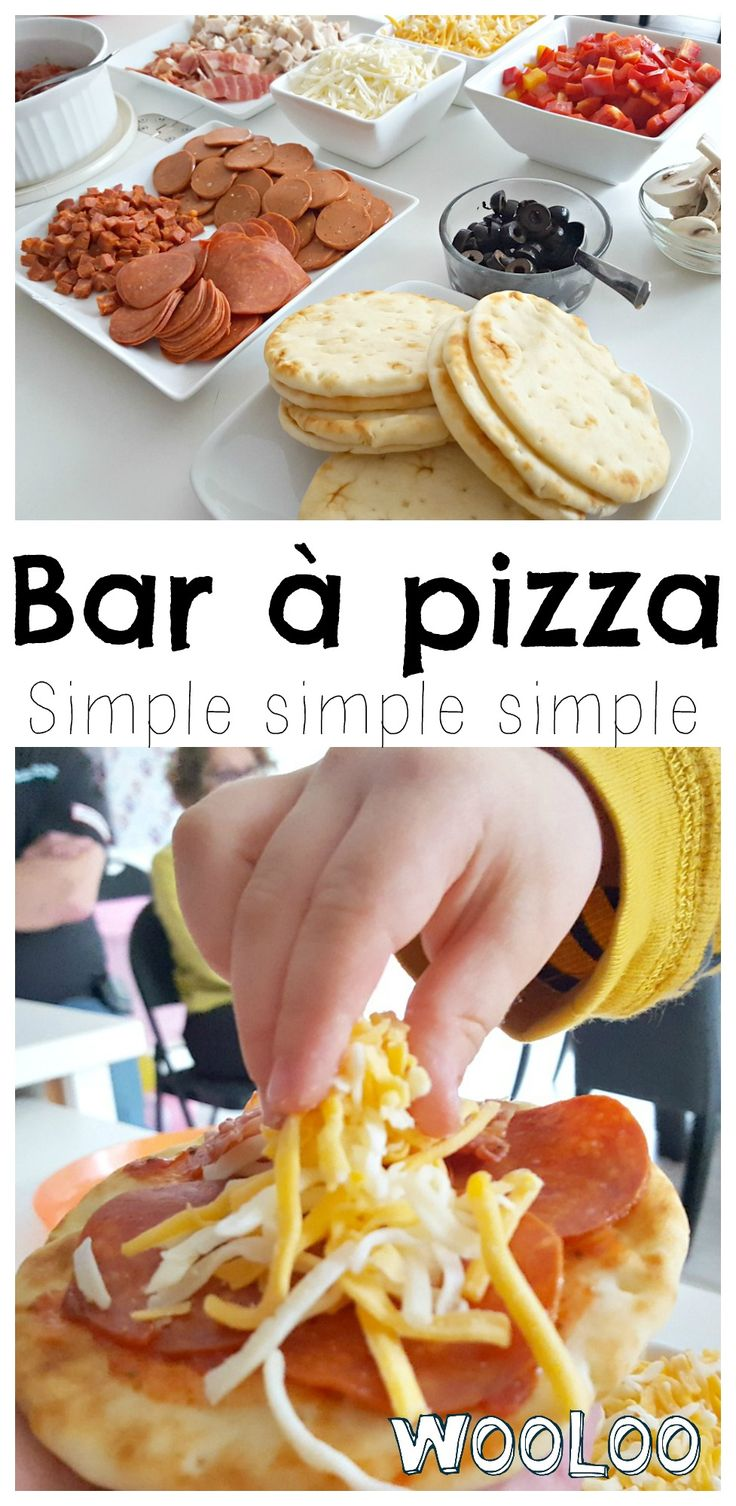 J'ai reçu 15 personnes avec ce Bar à Pizza simple simple simple. Et le plus beau c'est qu'on a tous mangé ensemble et chaud / I received 15 people with this simple simple simple Pizza Bar. And the best part of it is that we all ate together and it was still hot :O #fête #buffet #pizza #recipe #enfants #kids #birthday