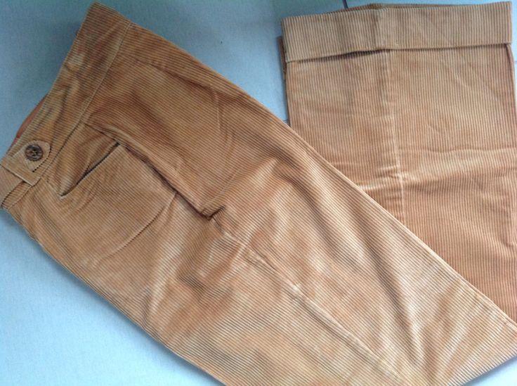 Vintage Mod Artbro Jr. Sports pumpkin spice high waisted wide leg cuffed corduroy pants SZ. 11 by Hannahandhersisters on Etsy