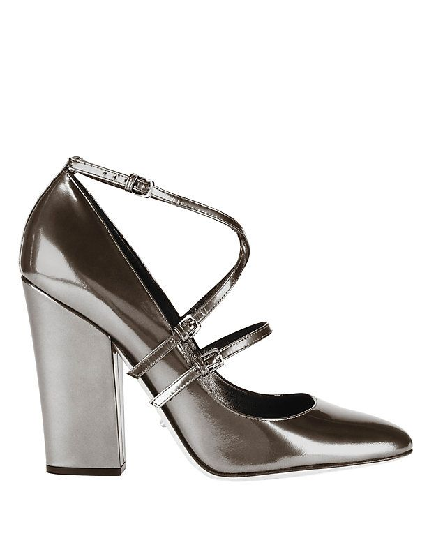Pumps & High Heels for Women On Sale, Gun Metal, Leather, 2017, 4 4.5 Sergio Rossi