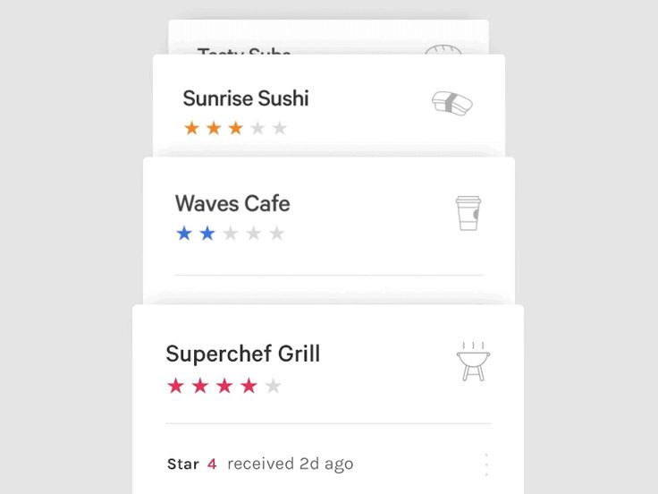 This is the design I came up with for a loyalty app that I worked on during a hackathon with Axiom Zen. The concept was that any store could set up a simple rewards system by giving you a star each...