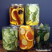 Natural Room Scent Jars for DIY Gifts and Centerpieces. www.theyummylife.com/Scent_Jar_Gifts_and_Centerpieces