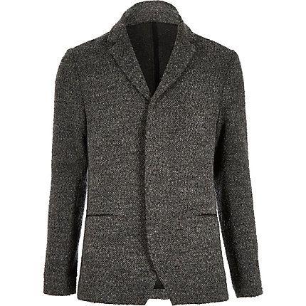 Grey boiled wool jacket $80.00