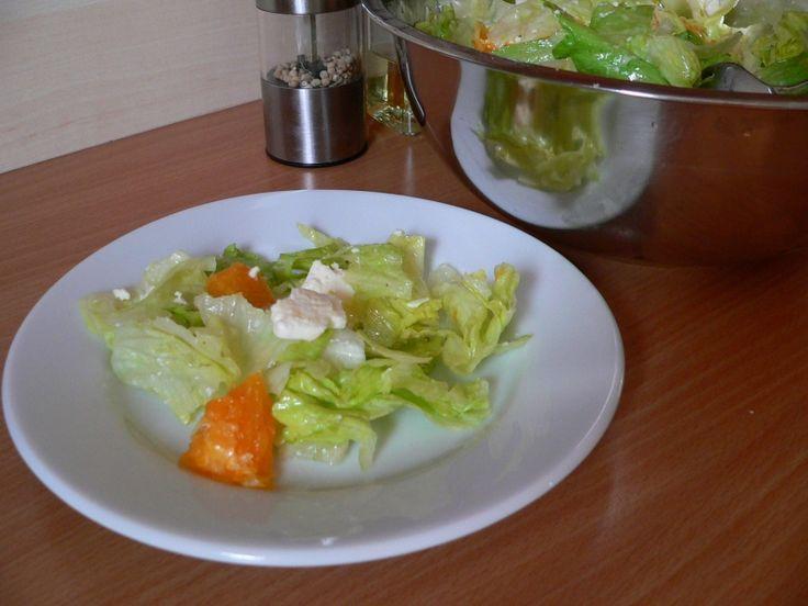 Ledový salát s pomerančem