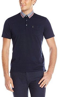 Ben Sherman Men's Contrast-Tipped Pique Polo Shirt - Shop for women's Shirt - Navy Blazer Shirt
