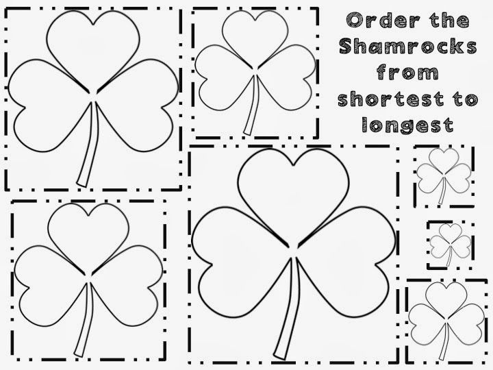 Splendor in Kinder: Shamrock Ordering by Length/Size FREEBIE!