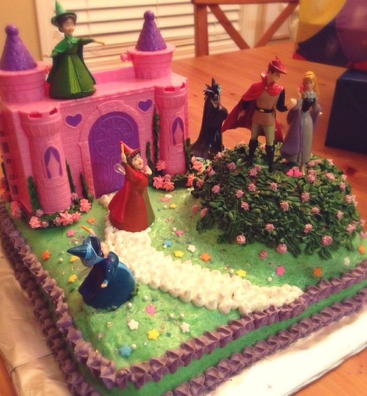 Sleeping Beauty birthday cake.