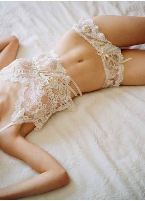 Lace Camisole and Panties | 35 Dreamy Wedding Lingerie Ideas