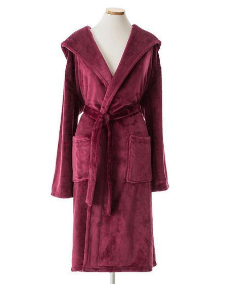 Pine Cone Hill Selke Fleece Garnet Hooded Robe Ships Free #giftsshewilllove #giftsshewilllovebathandbody #giftsshewillloveuniquegifts #giftsshewilllovejewerlry #lavenderfields