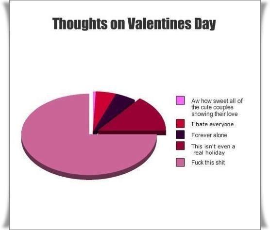 Hahahaahahahahahaha So true... I hate Valentine's day sooo much but honestly it really isnt a holiday!!!!!