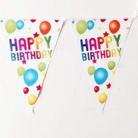 2.5 mètre fête d'anniversaire décorations enfants faveur fête d'anniversaire décoration drapeaux bannière Partie Bannières Drapeaux En Papier aliexpress Décoration