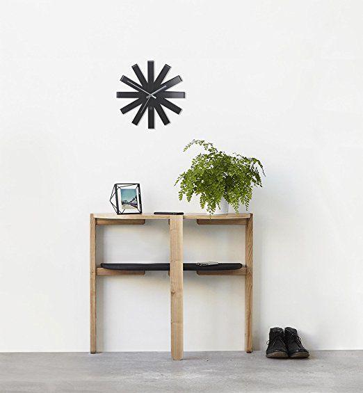 Ribbon Wall Clock Black