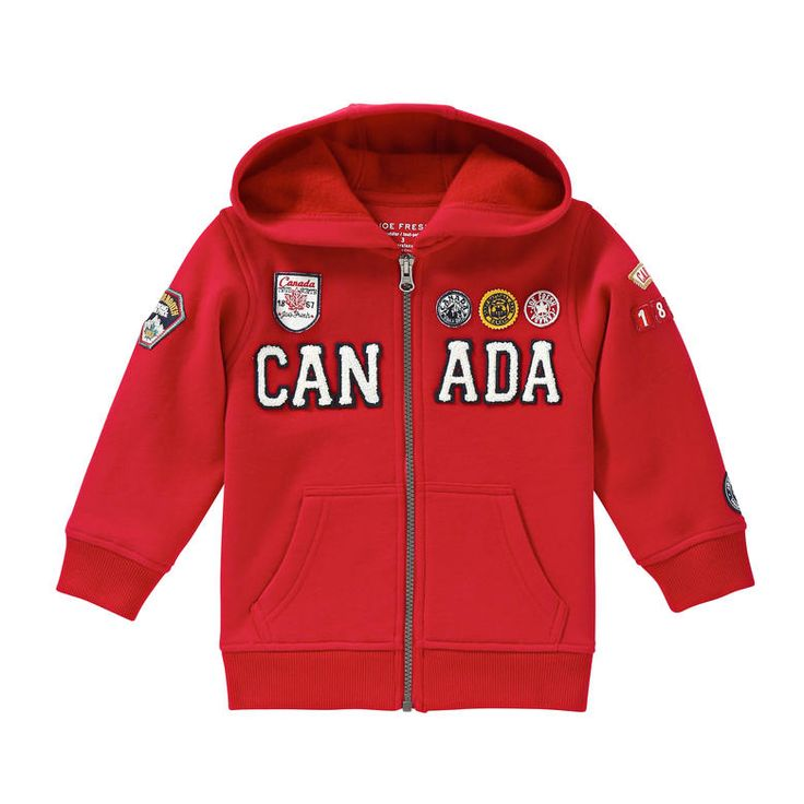 Toddler Boys' Canada Hoodie from Joe Fresh. Sport this patch hoodie on Canada Day and beyond. Only $16.