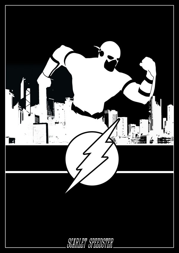 DC Comics Silhouettes: The Flash by Romain Therasse
