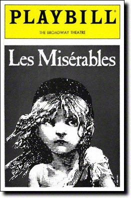 Playbill Cover for Les Misérables at Broadway Theatre - Les Miserables Playbill - Opening Night, March 1987
