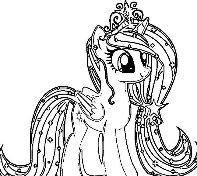Mewarnai Gambar Kuda Poni In 2020 Unicorn Coloring Pages My