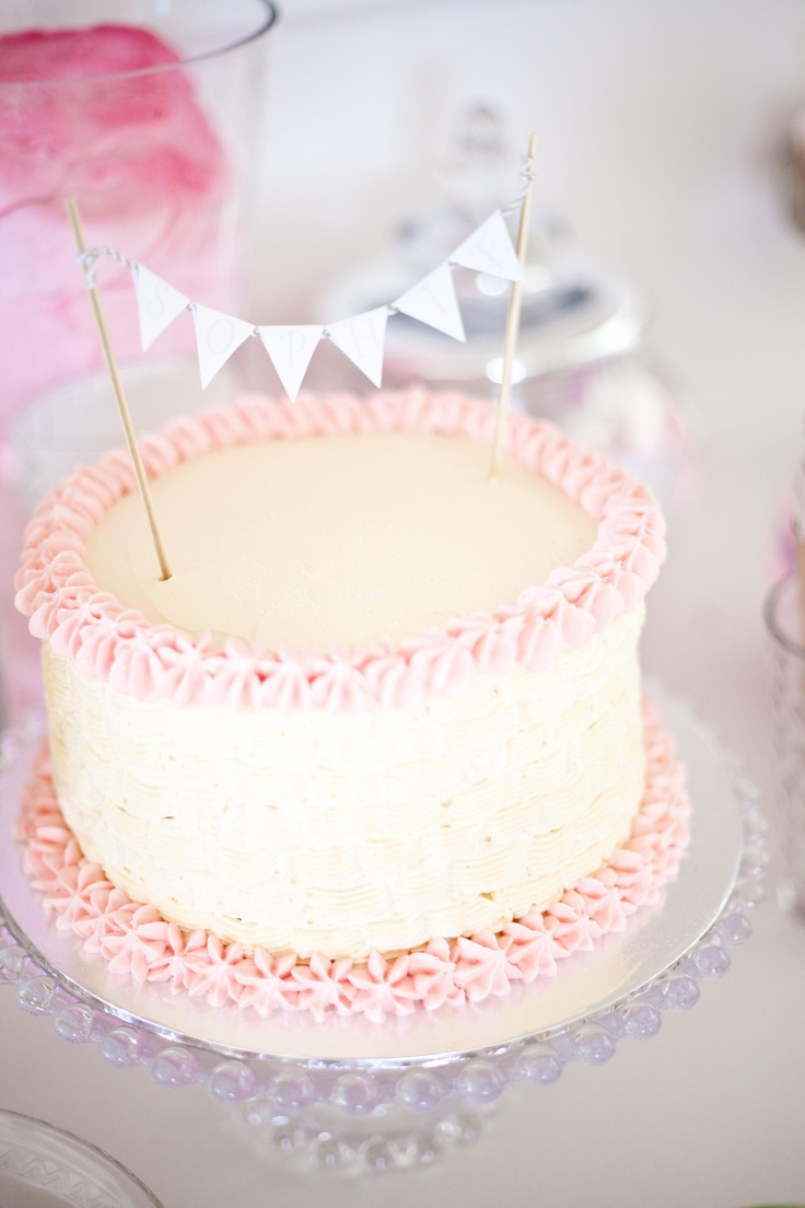Baby Dedication cake idea... simple?