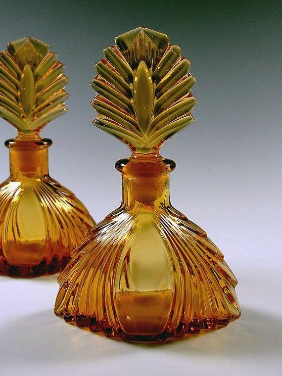 Vintage 1920s Art Deco Perfume Bottles by PassionForVintage