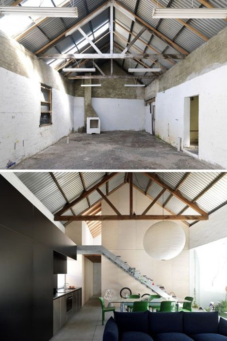 A beautiful example of before and after in a contemporary barn conversion
