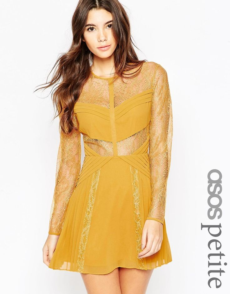 ASOS PETITE Mini Lace Skater with Cut Outs