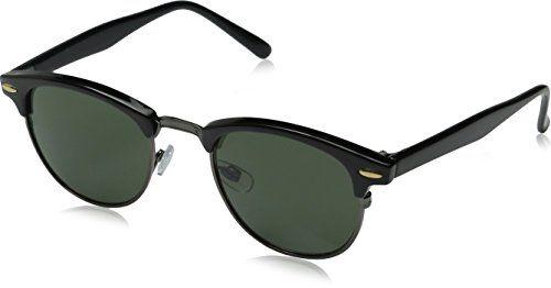 zeroUV - Vintage Half Frame Semi-Rimless Horn Rimmed Style Classic Optical RX Sunglasses (Black-Gunmetal) ZeroUV http://www.amazon.co.uk/dp/B00KSBDO4K/ref=cm_sw_r_pi_dp_ISZ0wb17JTEYK