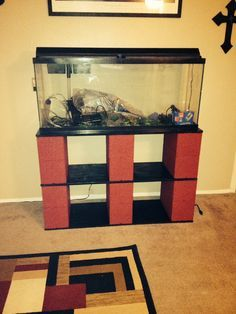 DIY fish tank stand for 55 gallon tank.