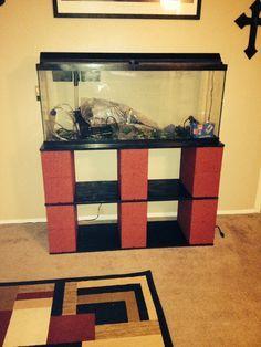DIY fish tank stand for 55 gallon tank.
