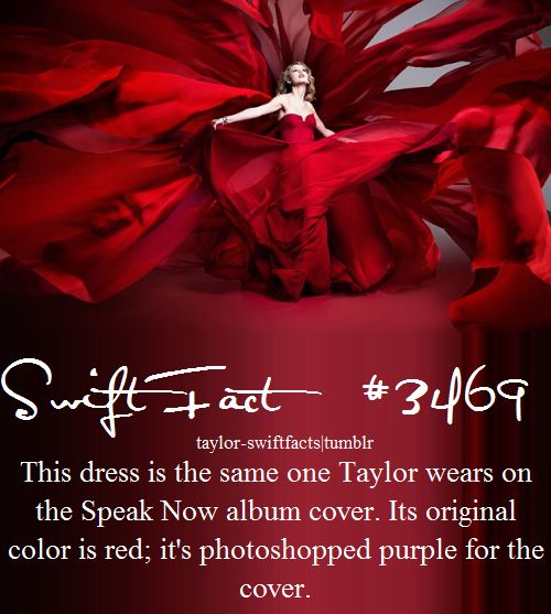 taylor swift facts. Ohhhh. I was always confused if it was red or purple, but now I know!