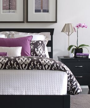Purple and gray bedroom ideas