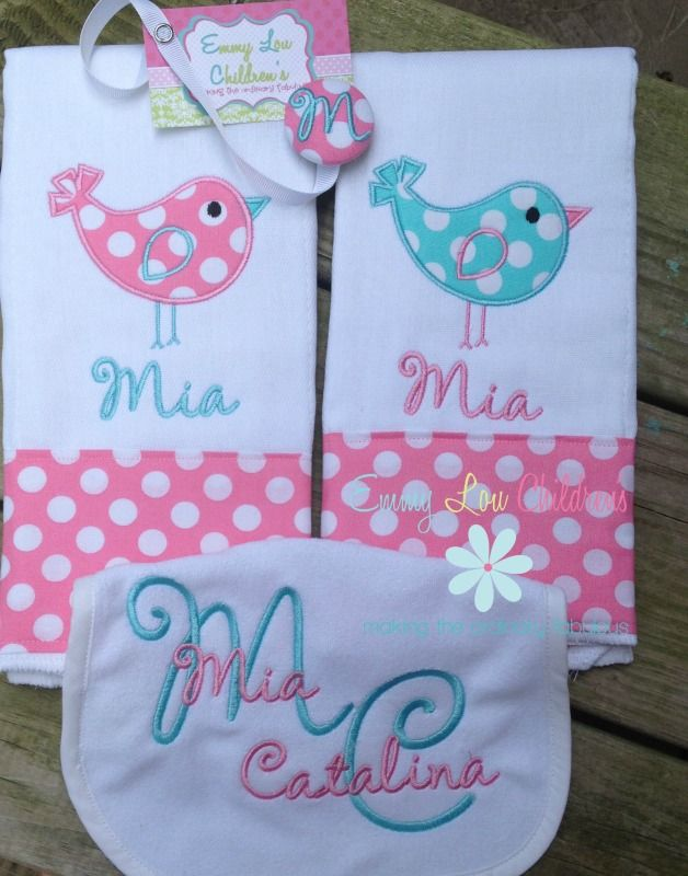 20 Best Personalized Burp Cloth Images On Pinterest Baby Burp
