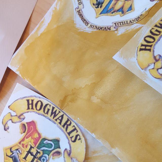 Hogwarts Briefe, Selber basteln Hogwarts Einladungen, Harry Potter Party,
