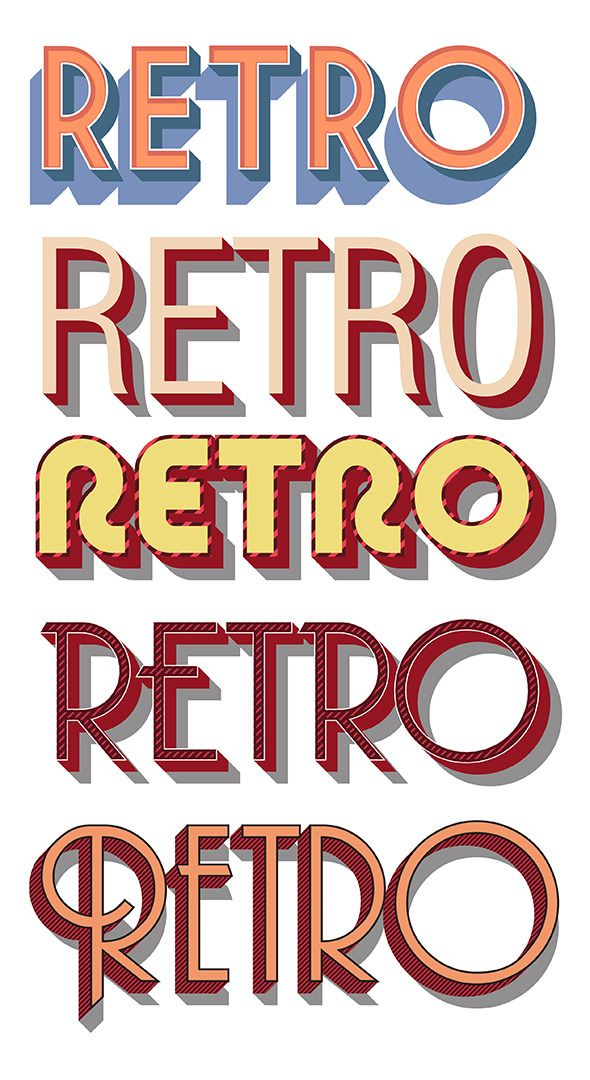 Retro Vector Graphic Styles #50s #60s Download : https://graphicriver.net/item/retro-vector-graphic-styles/8717674?ref=pxcr