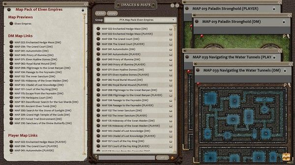 Fantasy Grounds - Paths to Adventure: Elven Empires (Map Pack