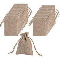 Mudder Bolsas de Arpillera con Bolsas de Cordón de Regalo para Fiesta de Boda y Artesanía de DIY, 4.5 X 3.5 Pulgadas, Mucho de 20