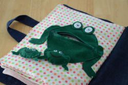 Instead of the frog, maybe a person with felt food?