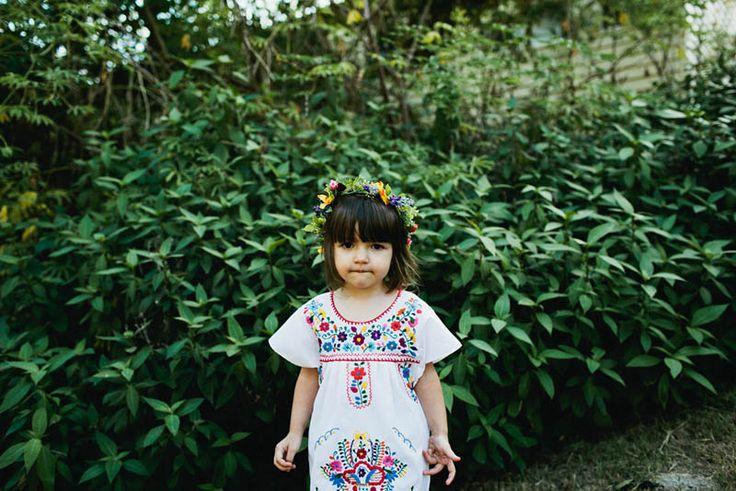 HOORAY! magazine  Little Indian wearing Little Tienda