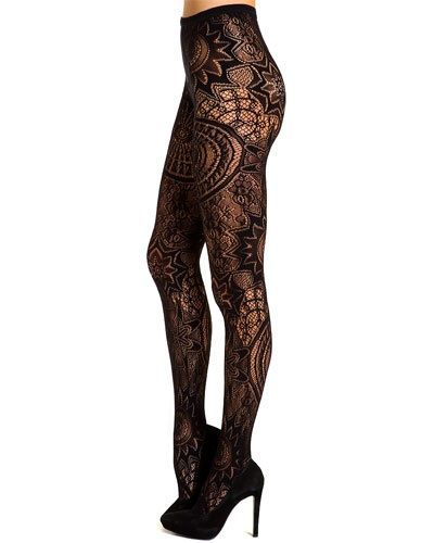 how cool are these tights???!  Emilio Cavallini Pack of 2 Black Tights