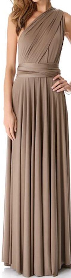 Beautiful brown bridesmaid dress