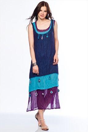 Trend: Etnik Esintiler - Mor Elbise 2420 %38 indirimle 129,99TL ile Trendyol da