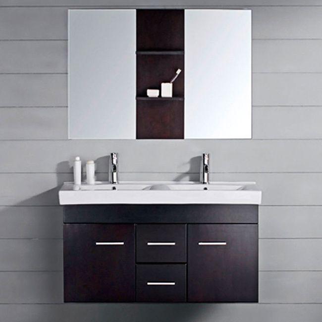 Bathroom Vanity 48 Inch Double Sink: Virtu USA Opal 48-inch Double-sink Bathroom Vanity Set