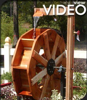 Custom Wooden Water Wheels, Waterwheel for Home and Garden: Hallster Water Wheels