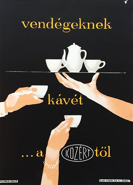 Coffee for the Guests from the State Owned Supermarket / Vendégeknek kávét a közérttől 1950s